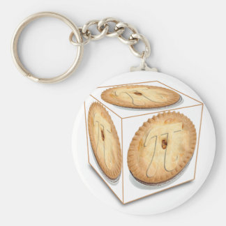 Pi Cubed (PIE CUBED)  PI PIE CRUST Basic Round Button Key Ring