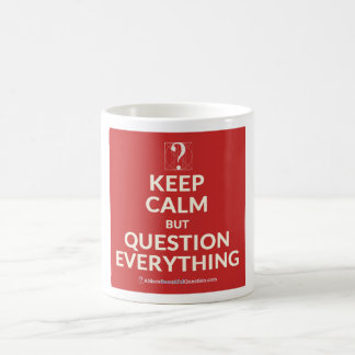 Pi Day 2015: Keep calm but question everything mug