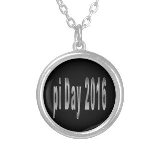 pi Day 2016 math love Silver Plated Necklace