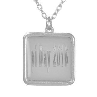 pi Day 2016 math love Square Pendant Necklace
