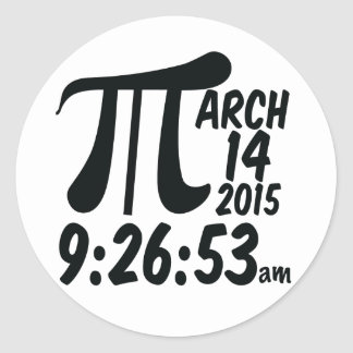Pi Day 3/14/15 Classic Round Sticker