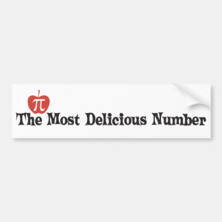 Pi Day 3.14 - The Most Delicious Number Bumper Sticker
