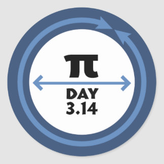 Pi Day Blue Sticker