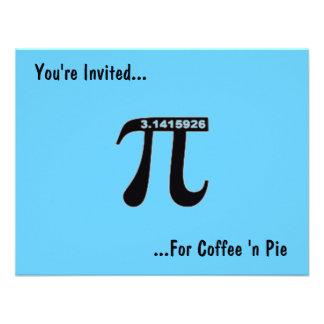 Pi Day Coffee Pi Invitation Customize