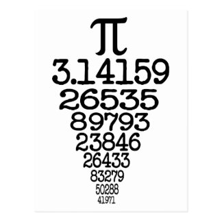 Pi Day compleye 3 14 Post Card