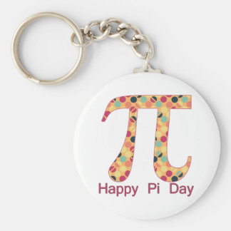 Pi Day Cool Dots 2 Basic Round Button Key Ring