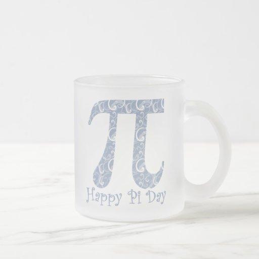 Pi Day Denim Blue Swirls Coffee Mugs