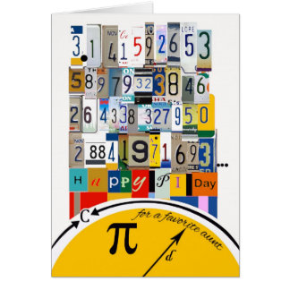Pi Day for Aunt, Crunching Numbers Greeting Card