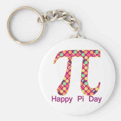 Pi Day Funky Dots Keychain