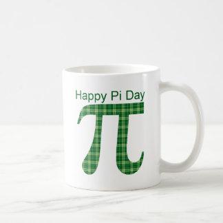 Pi Day Green Plaid Basic White Mug