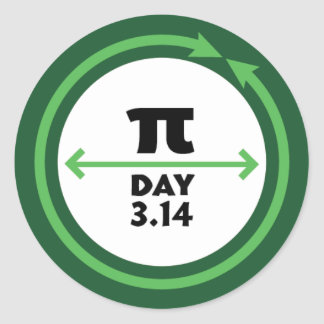 Pi Day Green Sticker