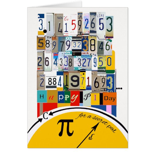 Pi Day Greetings for Secret Pal, Crunching Numbers