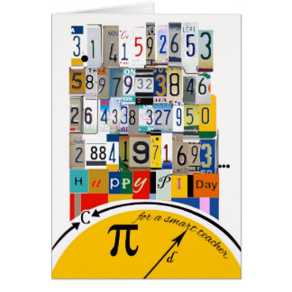 Pi Day Greetings for Teacher, Crunching Numbers Greeting Card