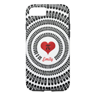 Pi Day Heart Math Digits 3.14 Mathematics Funny iPhone 8/7 Case