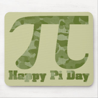 Pi Day Military Camo Mouse Pad
