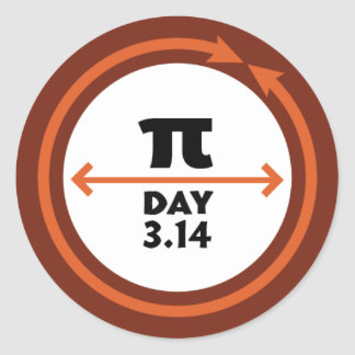 Pi Day Orange Sticker