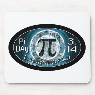 Pi Day Oval Designs Mouse Pads