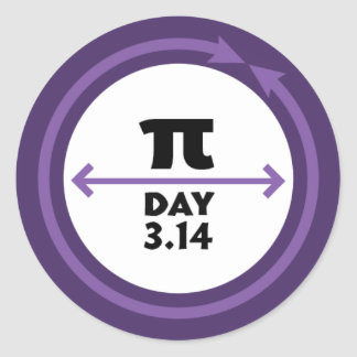 Pi Day Purple Sticker
