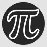Pi Day Round Sticker