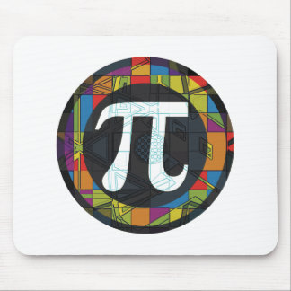 Pi Day Symbol Rounds Mouse Mat