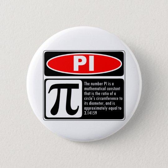 Pi Explanation 6 Cm Round Badge