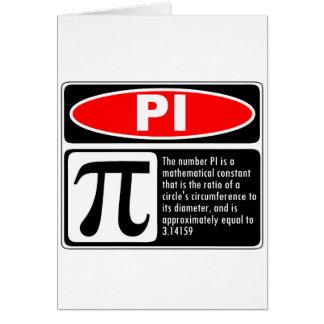 Pi Explanation Greeting Cards