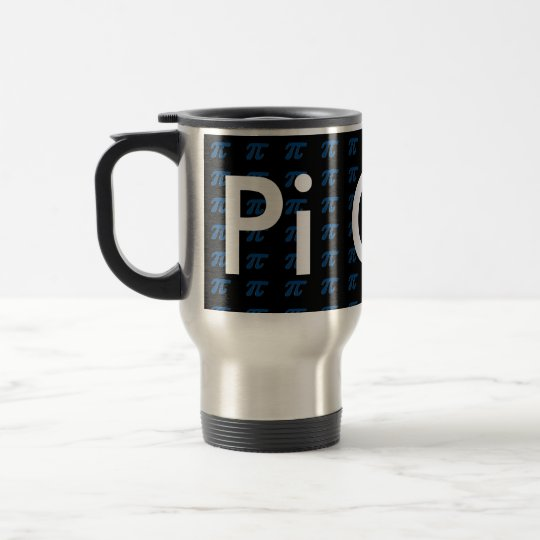 Pi Guy Commuter Coffee blue Mug Math STEM