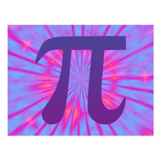 Pi in Purple Postcard