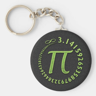 Pi in the round basic round button key ring
