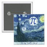 Pi in the Sky 15 Cm Square Badge