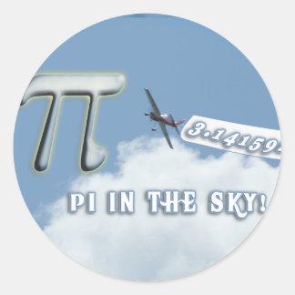 PI IN THE SKY! ROUND STICKER
