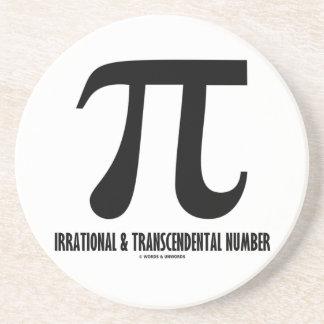 Pi Irrational And Transcendental Number (Math) Sandstone Coaster