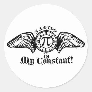 Pi is My Constant Round Sticker