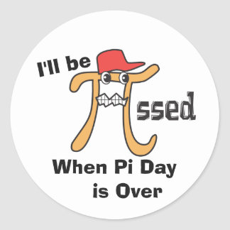 Pi is Pi-ssed - Funny Pi Day Gift Classic Round Sticker
