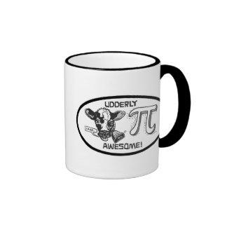 Pi is Udderly Awesome Ringer Mug
