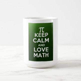 Pi keep calm and love math basic white mug