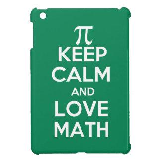 Pi keep calm and love math iPad mini cover