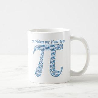 Pi Makes my Head Spin Classic White Coffee Mug