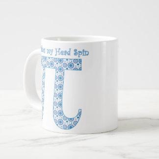 Pi Makes my Head Spin Jumbo Mug