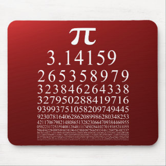 Pi Many Digits Number Mouse Pad