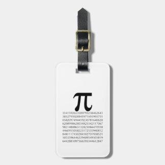 pi  maths luggage tag