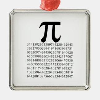 pi  maths Silver-Colored square decoration