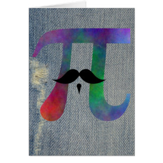 Pi Moustache Symbol Card