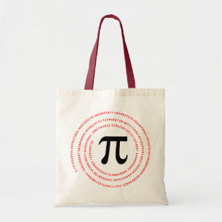 Pi Number Design Budget Tote Bag