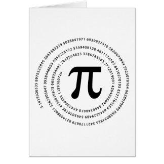 Pi Number Design Card