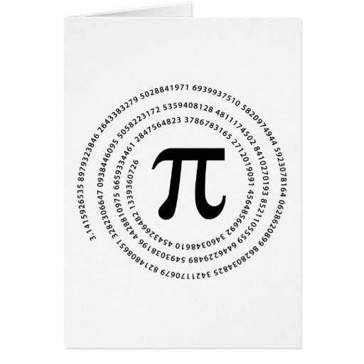 Pi Number Design Greeting Card