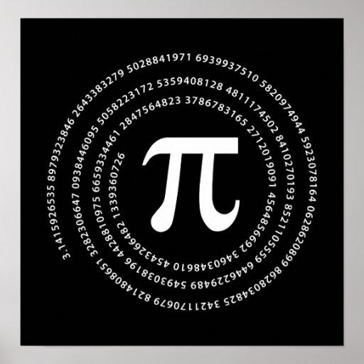 Pi Number Design Poster