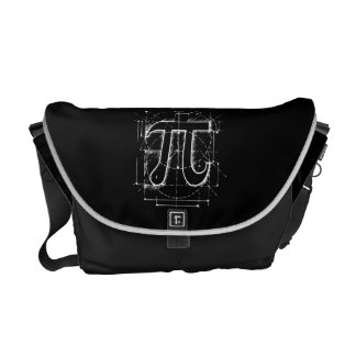 Pi Number Drawing Courier Bag