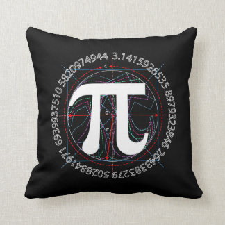 Pi Number Drawing Throw Cushion