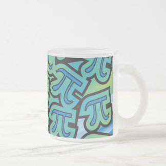Pi Party Frosted Glass Mug